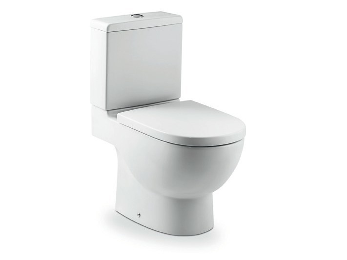 Close coupled ceramic toilet NEW MERIDIAN | Close coupled toilet by ROCA SANITARIO