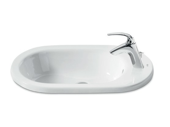 Inset ceramic washbasin NEW MERIDIAN | Inset washbasin by ROCA SANITARIO