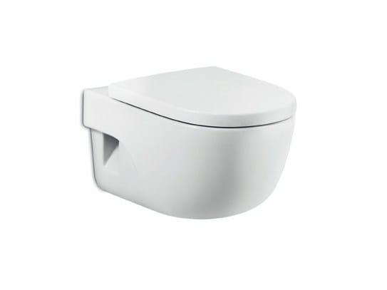 Wall-hung ceramic toilet NEW MERIDIAN | Wall-hung toilet by ROCA SANITARIO