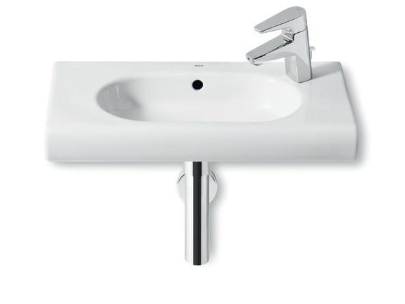 Single wall-mounted washbasin with overflow NEW MERIDIAN   Washbasin with overflow by ROCA SANITARIO