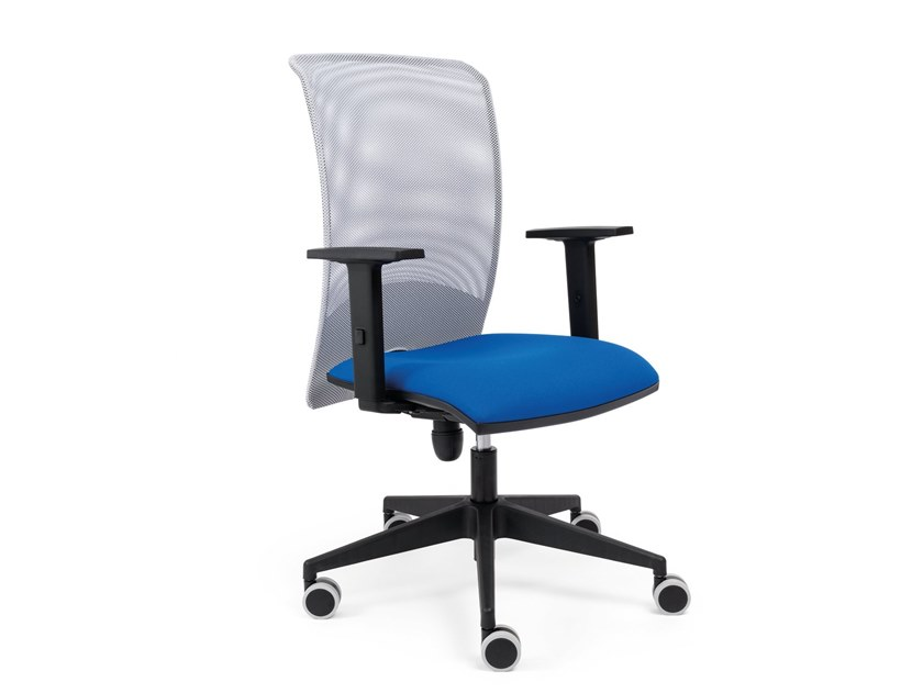 Mesh task chair with 5-Spoke base with armrests NEW MESSICO by AP Factor