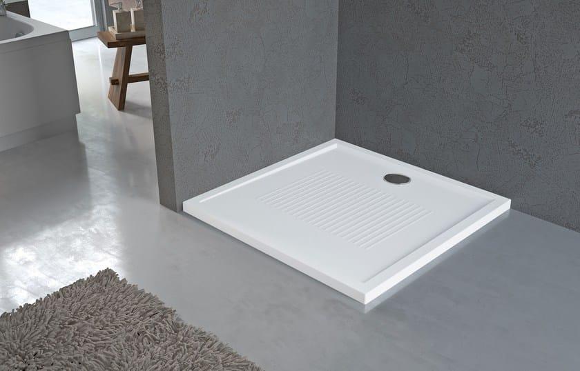 Corner anti-slip square acrylic shower tray NEW OLYMPIC by NOVELLINI