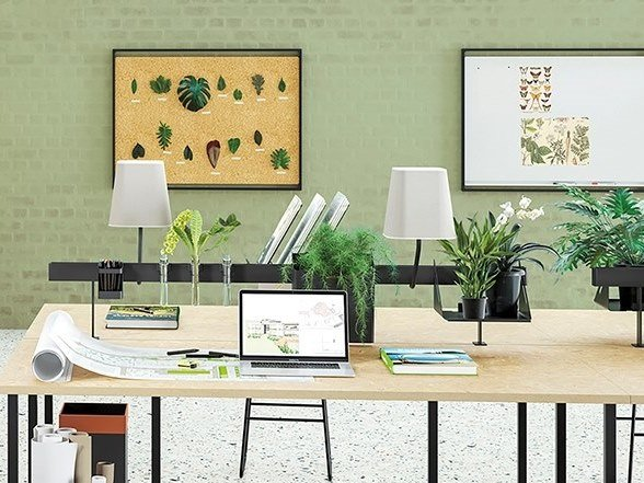 Powder coated steel desk set NEW PORT | Desk set by Manade