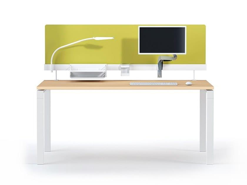 Modular melamine workstation screen desktop partition NEW PORT   Melamine workstation screen by Manade