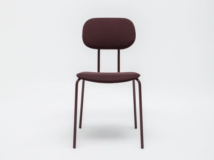 Fabric chair with integrated cushion NEW SCHOOL | Chair by MDD