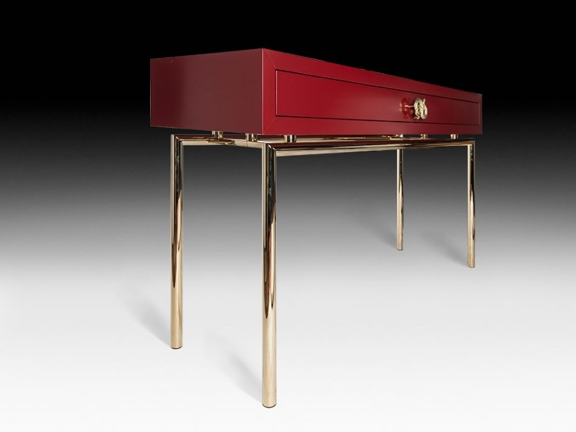 Lacquered rectangular console table with drawers NEW SECRET 4 by VGnewtrend