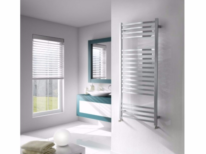 Chrome vertical wall-mounted towel warmer NEW WAVE by Hotwave