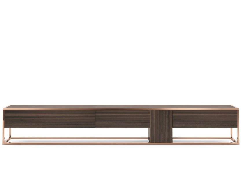 Low wood veneer TV cabinet NEW YORK by PRADDY