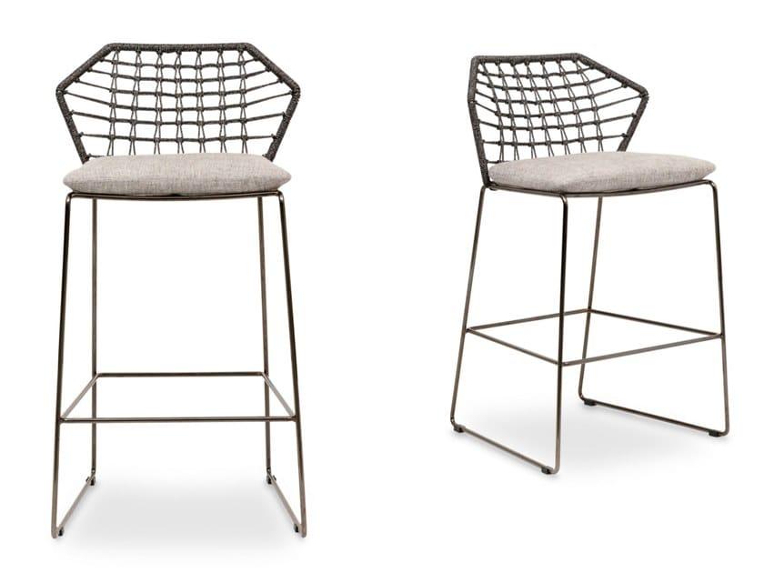 High fabric garden stool NEW YORK SOLEIL | Garden stool by Saba Italia