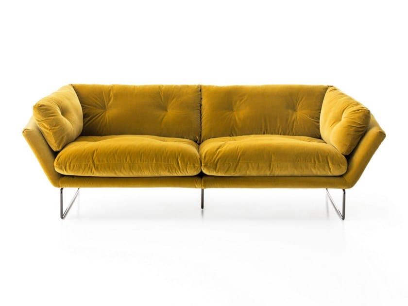 Sled base 3 seater fabric sofa NEW YORK SUITE | Sofa by Saba Italia
