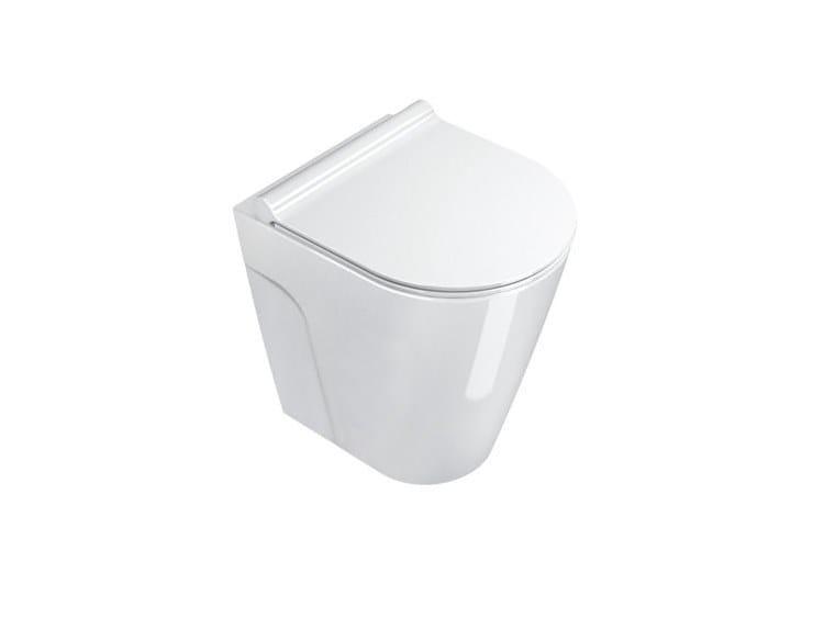 Floor mounted toilet NEW ZERO | Floor mounted toilet by CERAMICA CATALANO