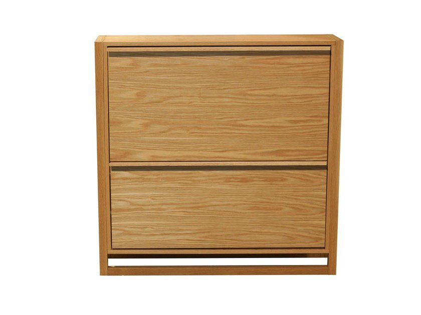 Wood veneer shoe cabinet NEWEST | Wood veneer shoe cabinet by Woodman