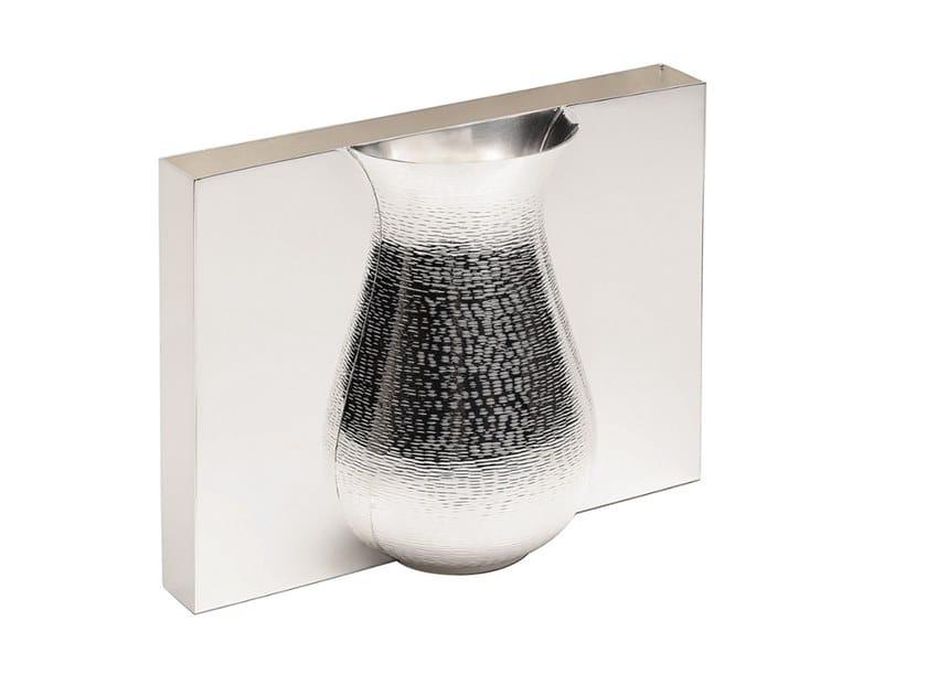 Silver vase NEWROME by ZANETTO