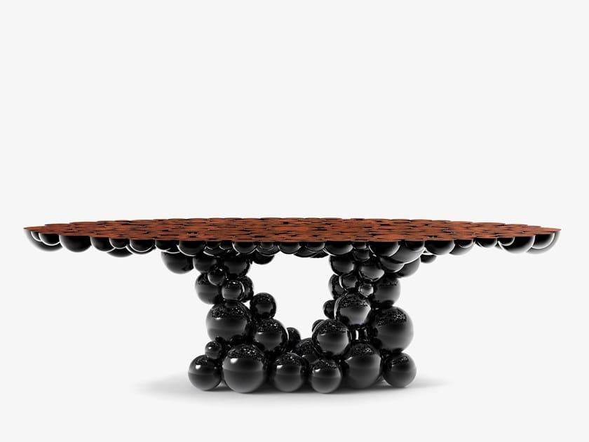 Tavolo da pranzo laccato in noce NEWTON BLACK WALNUT by Boca do Lobo