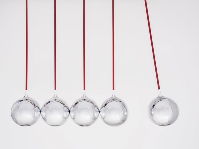 Lampada a sospensione a LED in acciaio e vetro NEWTON by Firmamento Milano