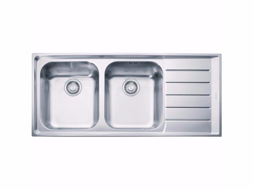 Lavello a 2 vasche da incasso in acciaio inox con sgocciolatoio NEX 621 by FRANKE