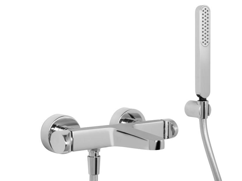 Wall-mounted bathtub mixer with hand shower NEXT F3934 | Bathtub mixer by FIMA Carlo Frattini