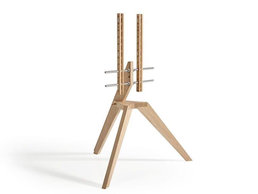 Floor mounted wooden stand NEXT OP1 by Vogel's - Exhibo