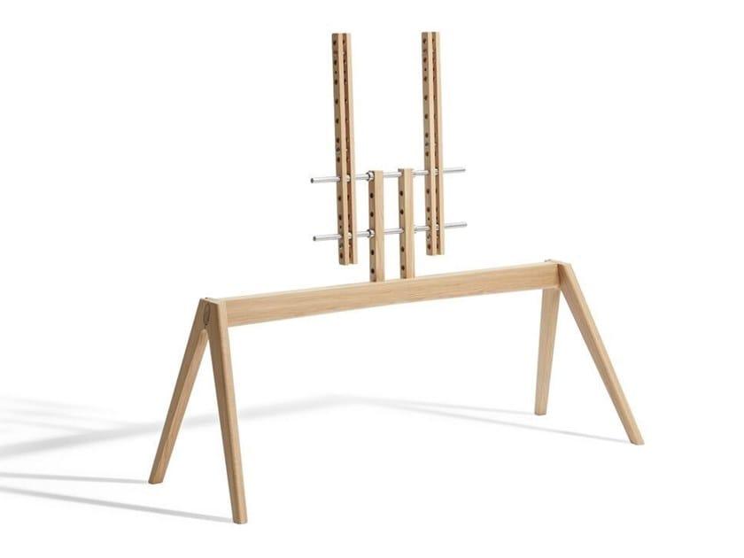 Floor mounted wooden stand NEXT OP2 by Vogel's - Exhibo