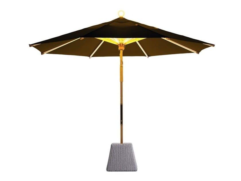 Round aluminium Garden umbrella with built-in lights NI Parasol 300 by FOXCAT
