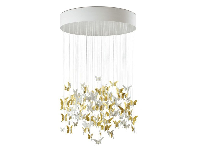 Porcelain ceiling lamp NIAGARA GOLDEN LUSTER 135cm by Lladró