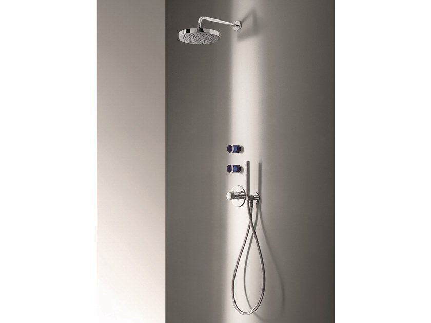 4 hole shower mixer with hand shower NICE | Shower mixer by Fantini Rubinetti
