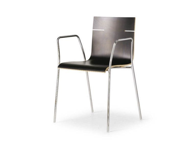 Reception chair with armrests NICK HOSPITALITY | Chair with armrests by FANTONI