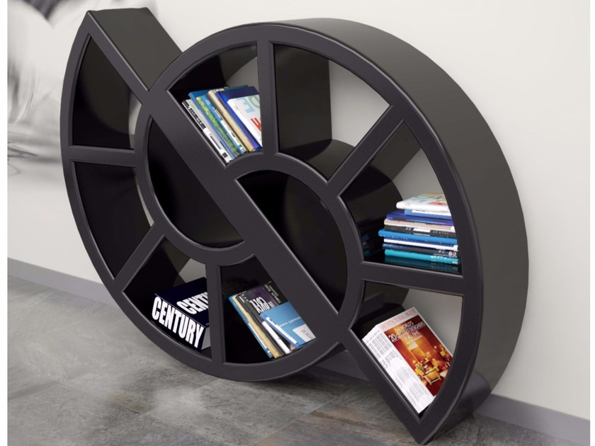 Freestanding wall-mounted Adamantx® bookcase NICOL by ZAD ITALY