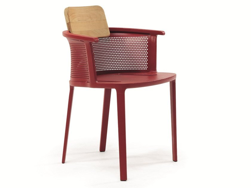Stackable aluminium garden chair NICOLETTE | Chair by Ethimo