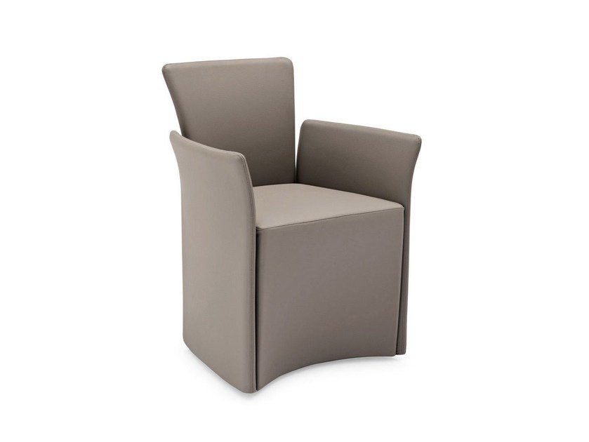 Leather easy chair with armrests NIDO | Easy chair with armrests by Calligaris