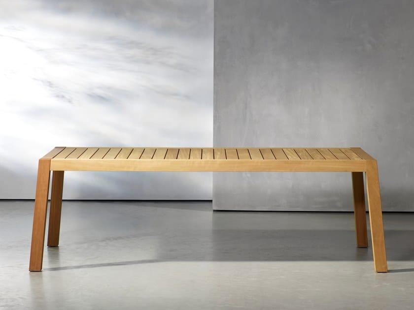 Rectangular wooden garden table ANNE by Piet Boon