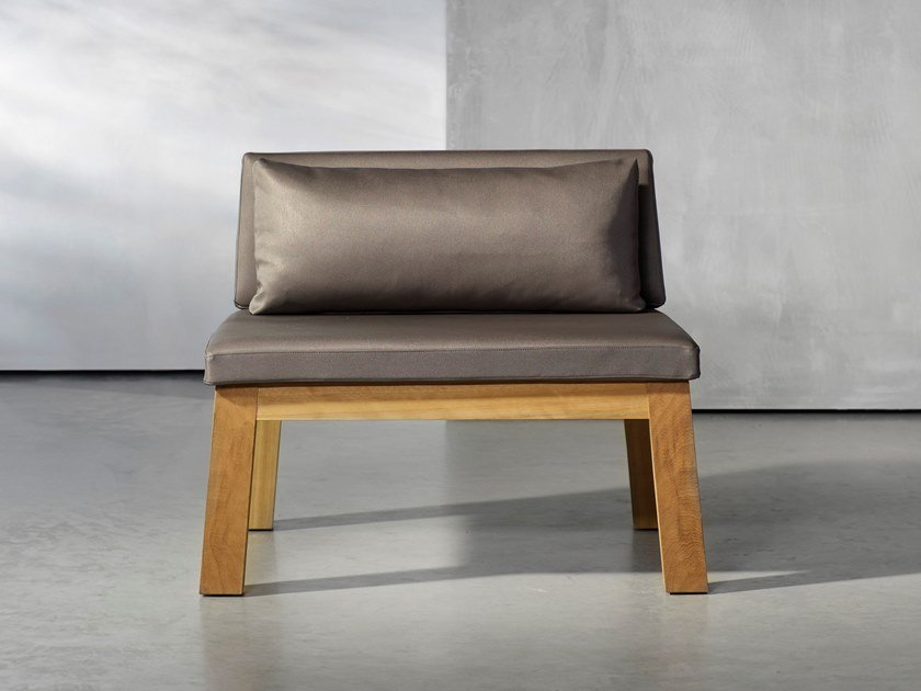 Garden wooden easy chair NIEK | Garden easy chair by Piet Boon