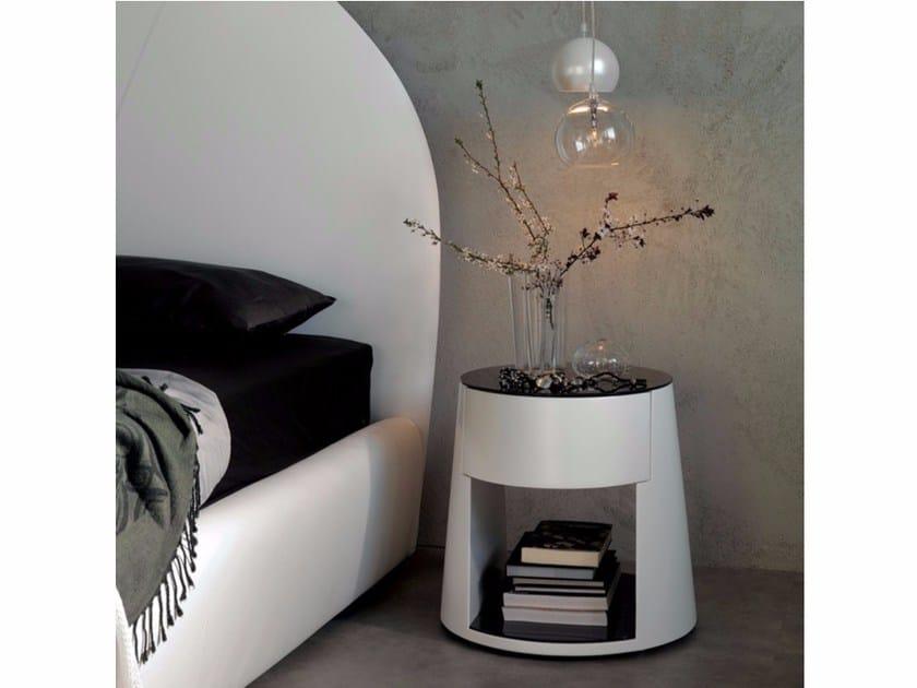 Polyurethane bedside table NIGEL by Cattelan Italia