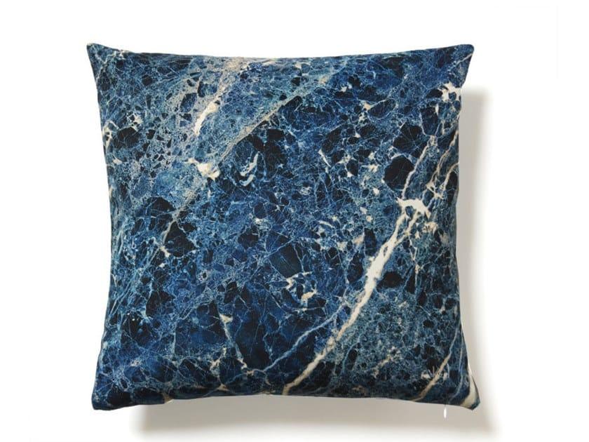 Square polyester cushion NIGHT BLUE EMPERADOR | Cushion by Koziel