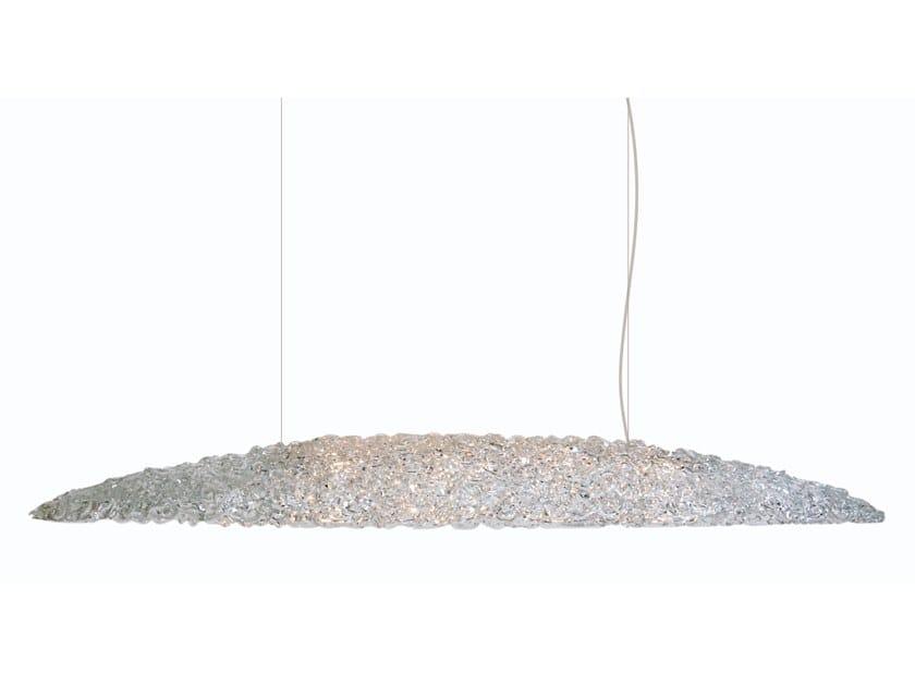 Direct light glass pendant lamp NIGHT IN PARIS H10 by ILFARI