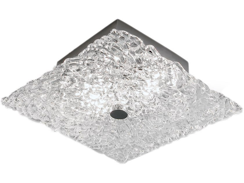Direct light glass ceiling light NIGHTLIFE C2 by ILFARI