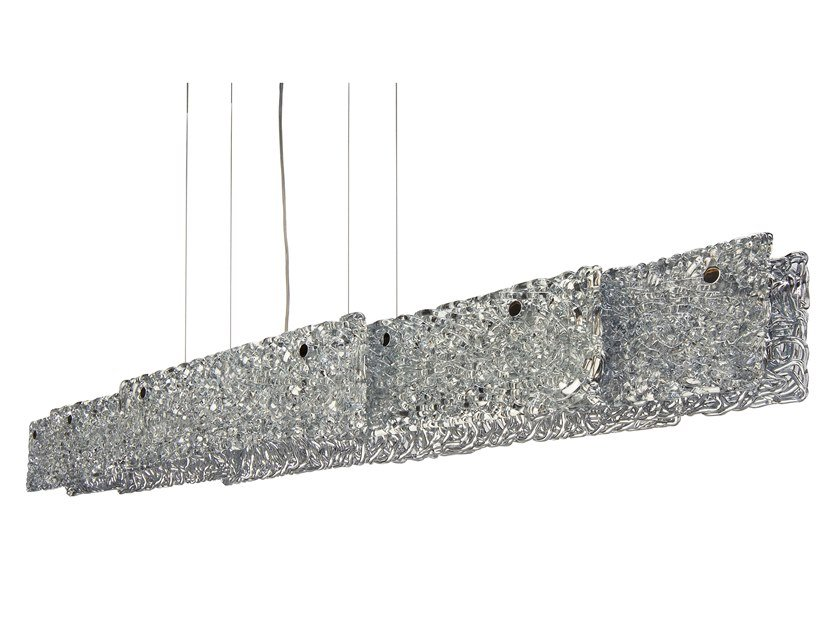 Direct light glass pendant lamp NIGHTLIFE H8 XL by ILFARI