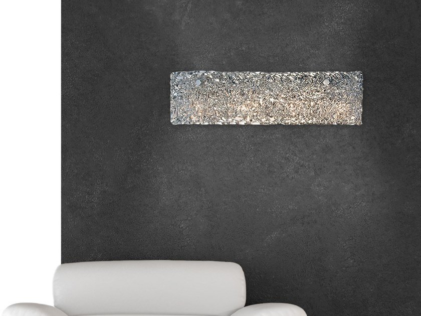 Direct-indirect light glass wall lamp NIGHTLIFE W3 by ILFARI