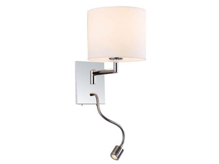 Applique a led orientabile in acciaio con braccio flessibile niki