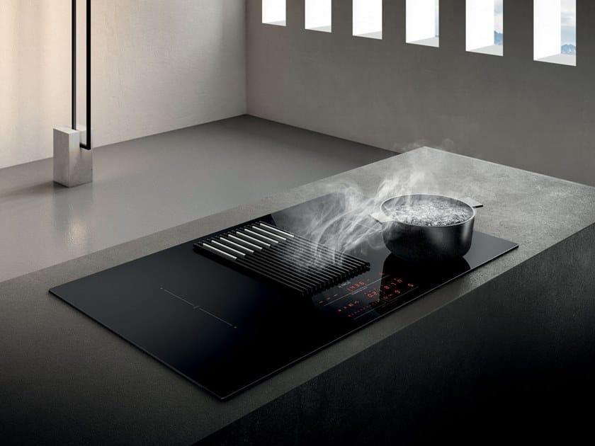 Induktionskochfeld Aus Glaskeramik Mit Integriertem Dunstabzug