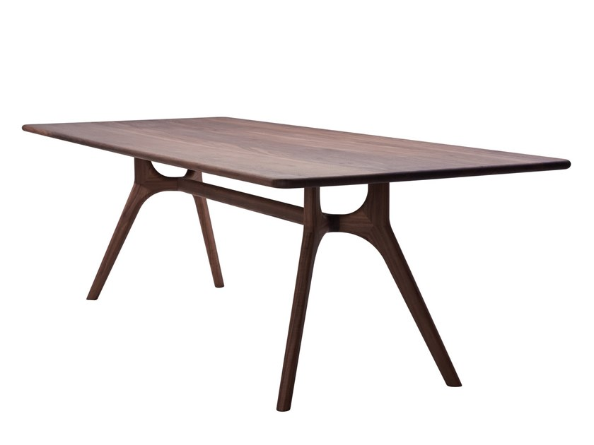 Rectangular solid wood dining table NIL | Table by more