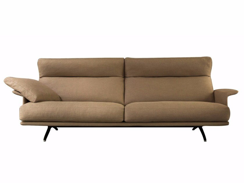 Recliner fabric sofa with removable cover NILSON | Recliner sofa by Verzelloni