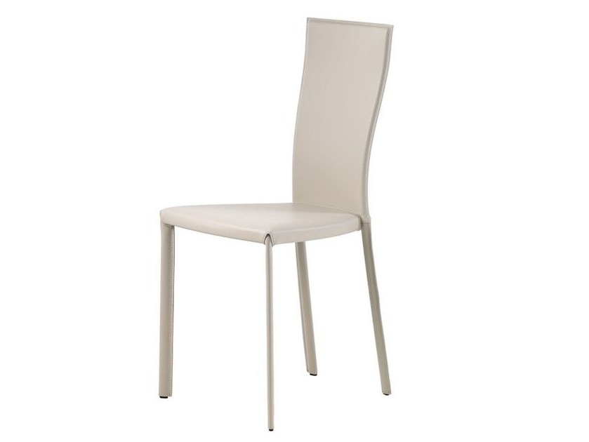 Tanned leather chair NINA by Cattelan Italia