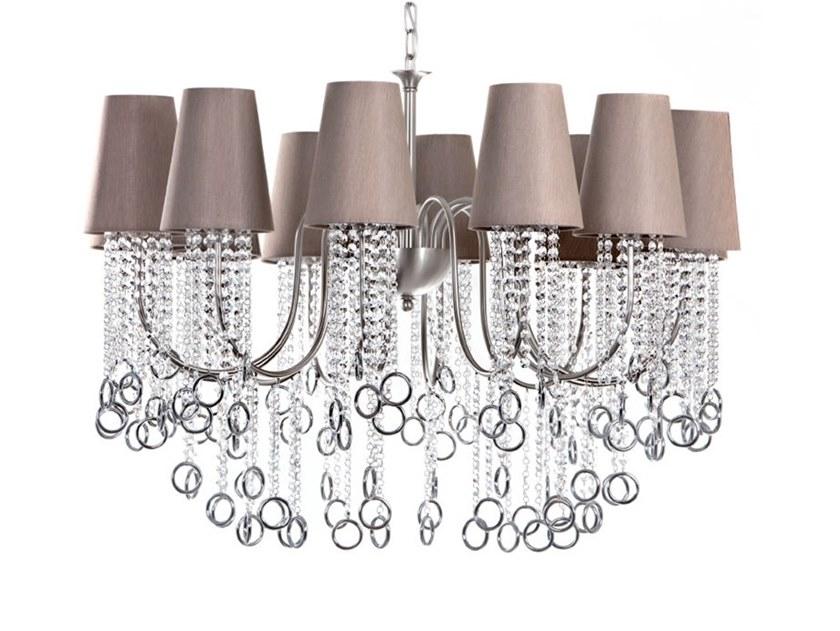 Direct-indirect light chandelier with crystals NINA | Chandelier by Aiardini