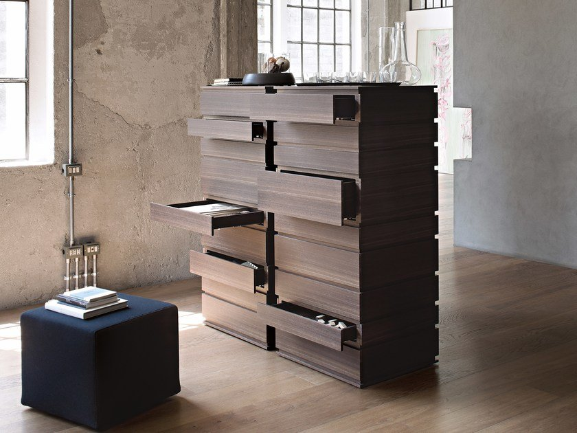 Oak chest of drawers NINE by Lema