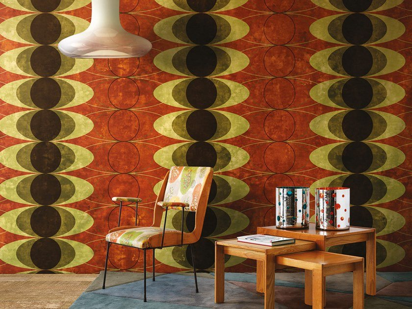 Geometric panoramic wallpaper NINETEEN FIFTY NINE 2018 by Inkiostro Bianco