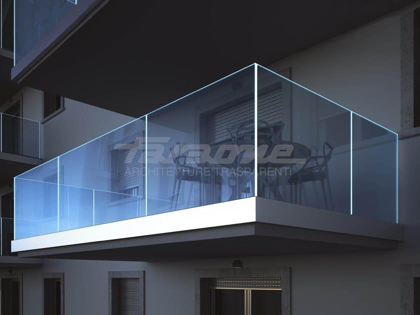 Glass balustrade NINFA 185 by FARAONE