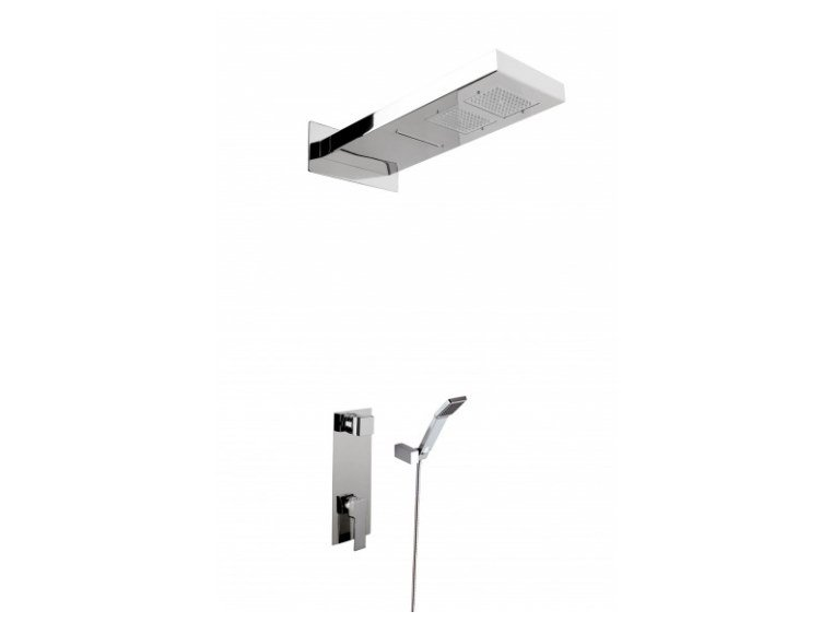 Stainless steel shower set with hand shower with overhead shower NINFE by Ama Luxury Shower