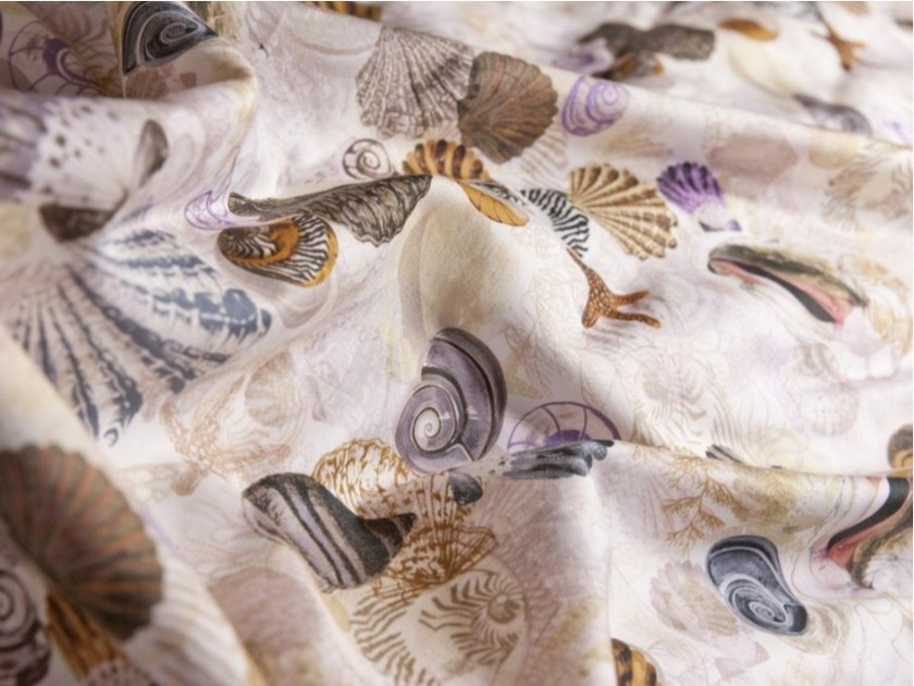 Washable printed cotton fabric with graphic pattern NINFEA by FRIGERIO