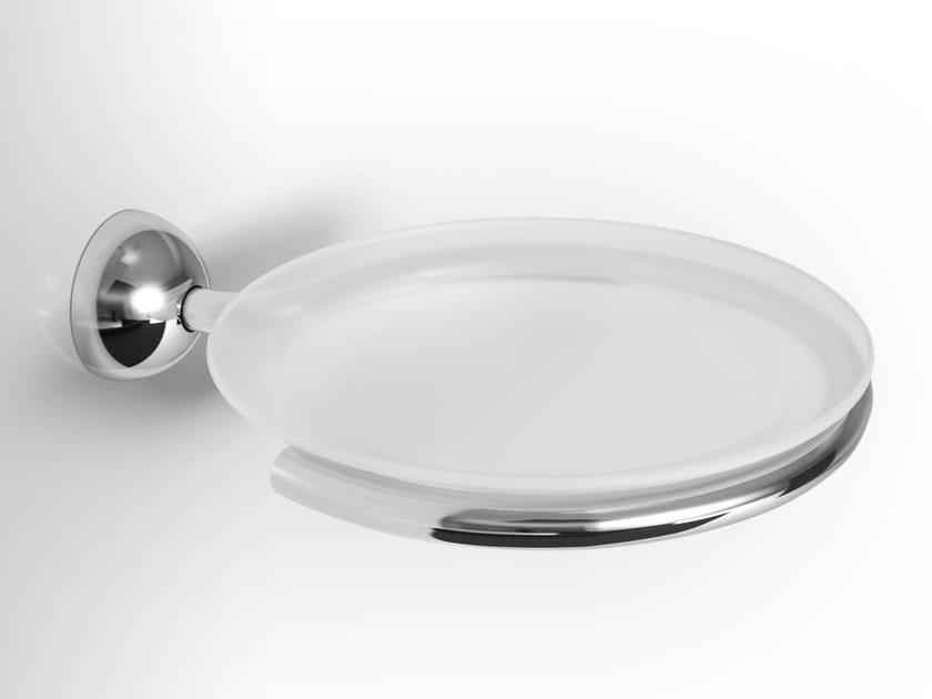Wall-mounted glass soap dish NINFEA   Glass soap dish by Alna
